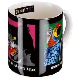 """Die drei ??? Kaffeebecher """"Karpatenhund"""", """"Schwarze Katze"""", """"Super-Papagei"""""""