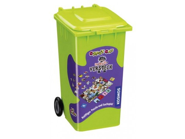 Crazy Cat im Müll-Versteck