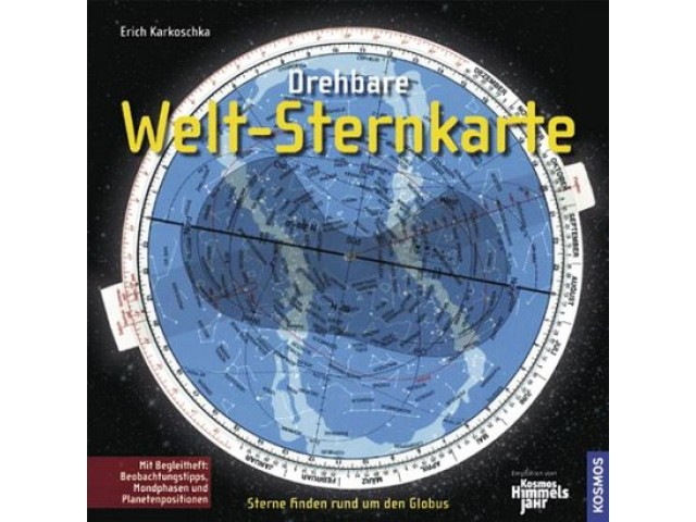 Drehbare Welt-Sternkarte